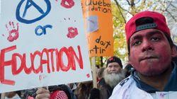 Manifestation étudiante contre la marchandisation de l'éducation