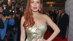 Lindsay Lohan n'aurait pas du choisir cette robe...