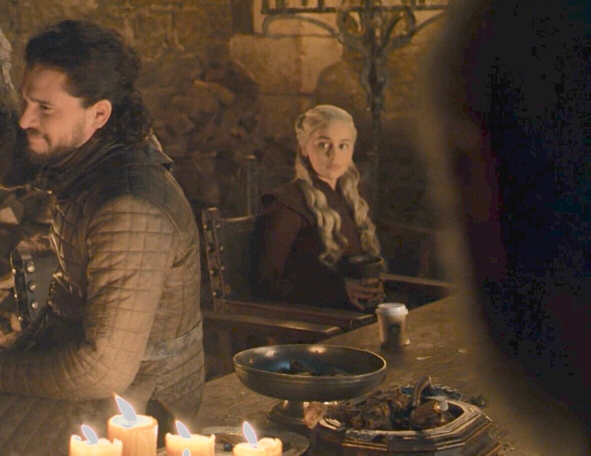 A rogue coffee cup turned up in Game Of