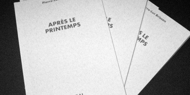 Grève étudiante: le blogueur Pierre-Luc Brisson publie l'essai Après le