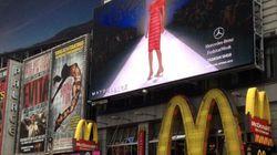 La Semaine de mode de New York en direct sur écran géant à Times Square