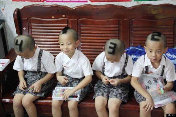 Rentrée scolaire insolite: nouvelle coiffure pour des quadruplés en Chine: leurs parents simplifient...