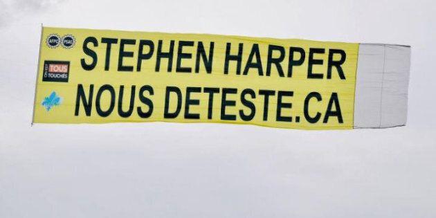 Banderole anti-Harper: l'intervention de la GRC dénoncée