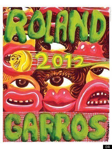 L'affiche de Roland Garros 2012 par le peintre Hervé Di Rosa