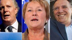 Crédibilité des chefs : Charest, Marois et Legault dans le même