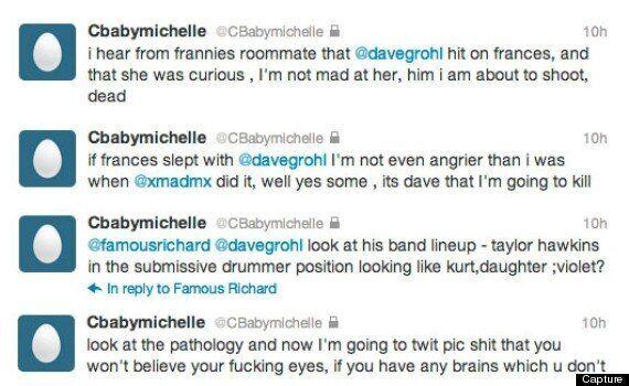 Courtney Love dérape sur Twitter et accuse Dave Grohl d'avoir couché avec sa fille Frances Bean
