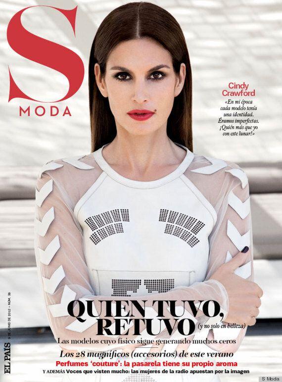 Cindy Crawford, très sexy dans son nouveau look, pose pour la couverture de «Moda»