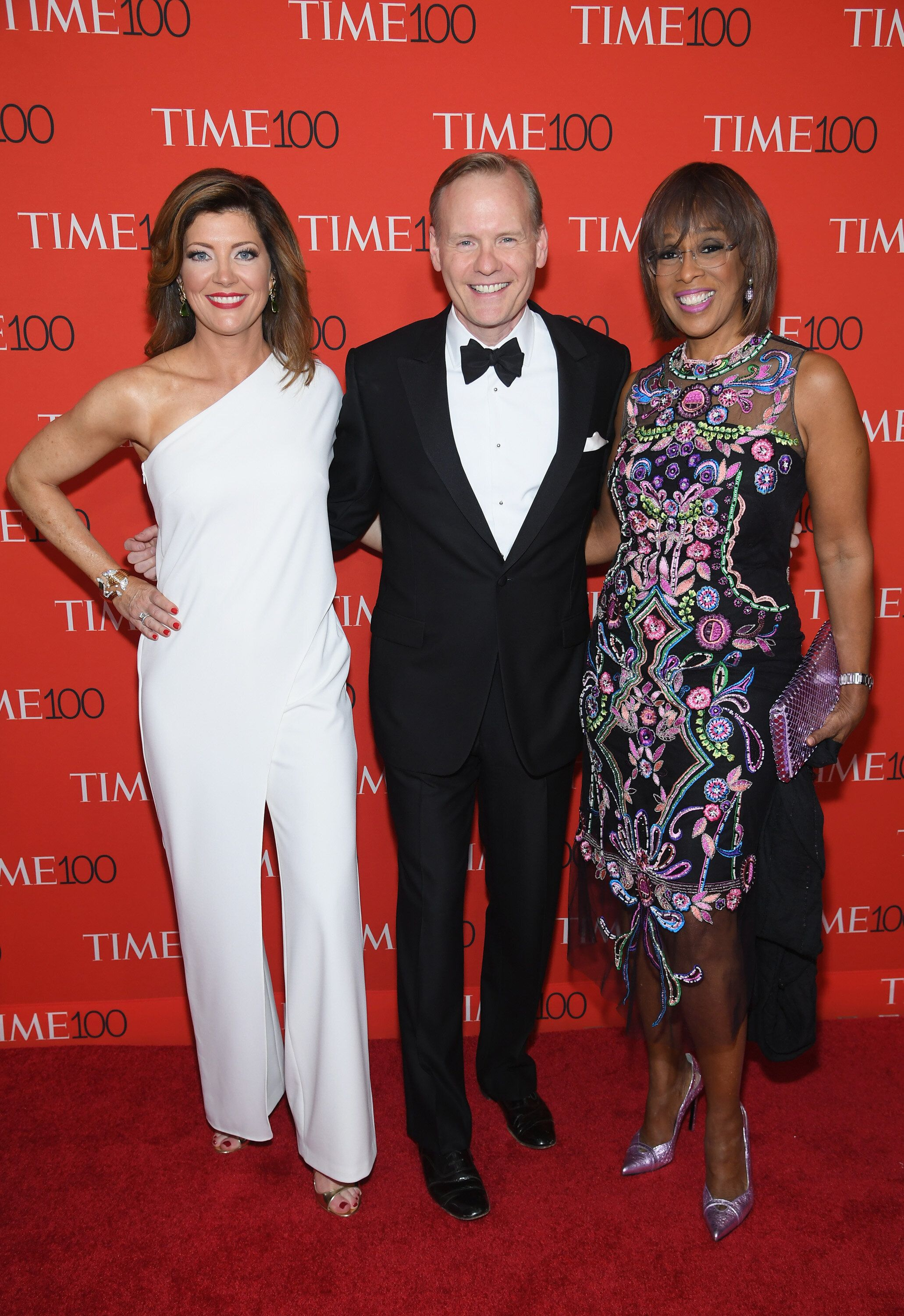 NEW YORK, NY - APRIL 24:  Norah O'Donnell, John Dickerson and Gayle King attend the 2018 Time 100 Gala at Jazz at Lincoln Center on April 24, 2018 in New York City.  (Photo by Dimitrios Kambouris/Getty Images for Time)