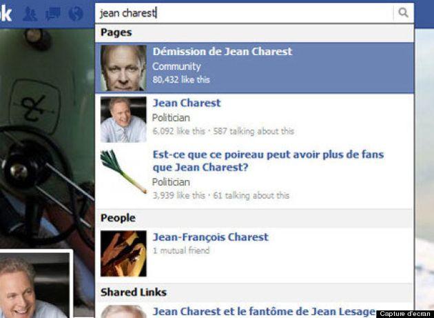 Propos de Jean Charest: une page Facebook demandant la démission du premier ministre devient très