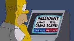 Pour qui vote Homer?