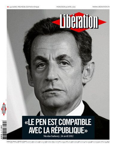 «Libération» accusé de travestir les propos de Nicolas Sarkozy sur le Marine Le