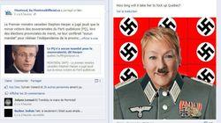 Pauline Marois dépeinte en Hitler