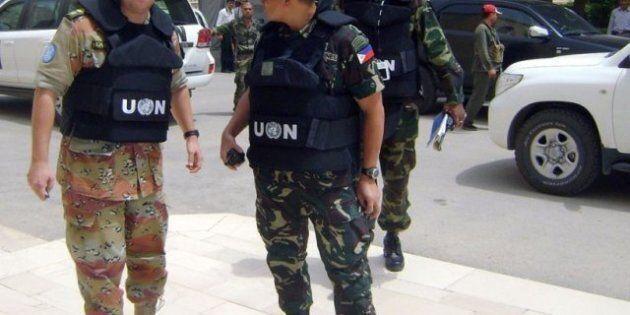 Combats en Syrie où les observateurs de l'ONU plient