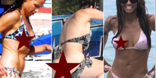 Les bikinis des stars... qui en dévoilent trop