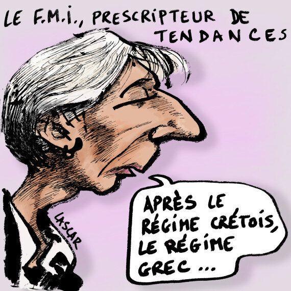 Crise en Grèce: Christine Lagarde se met les pieds dans les