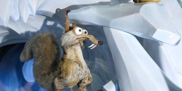 «L'âge de glace»: l'écureuil Scrat et son gland au Musée Grévin