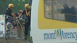 30 touristes coincés dans le téléphérique de la chute