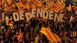 Une marée humaine catalane crie