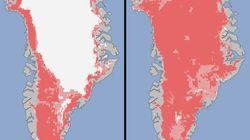 Le Groenland fond à vue