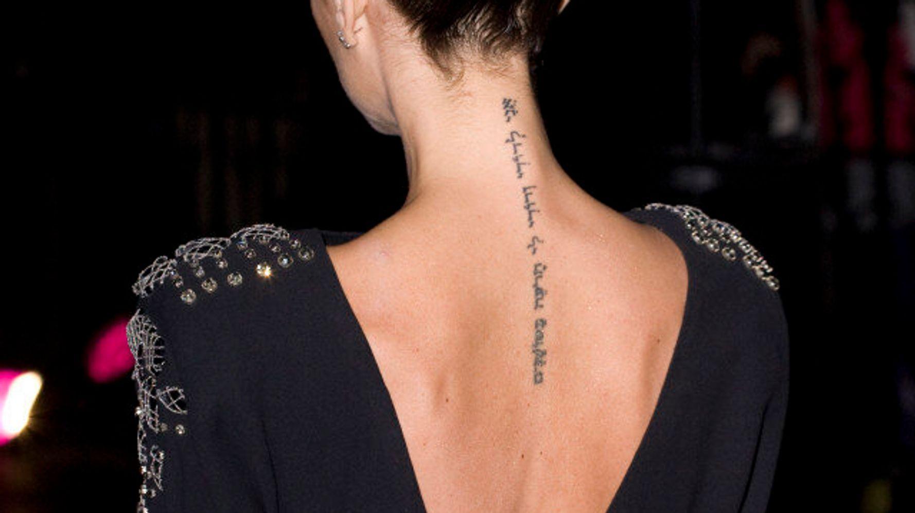 Les stars tatouées: des tatouages sur des corps célèbres (PHOTOS/VIDÉO)   HuffPost Québec Vivre