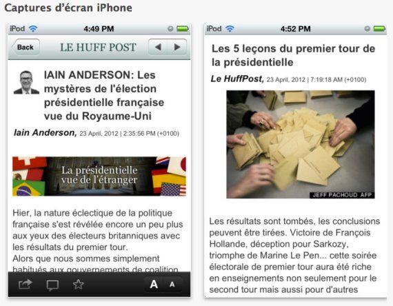 L'application iPhone du Huffington Post Québec est