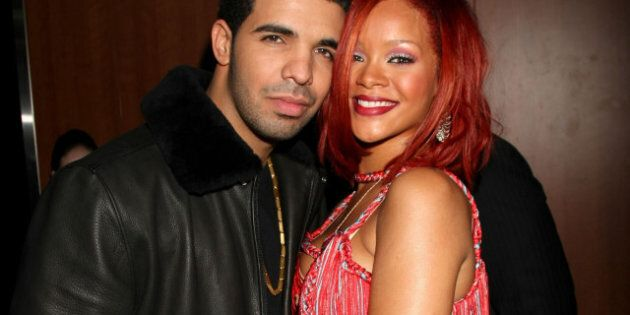 Rapper Drake (L) and singer Rihanna attend The 53rd Annual GRAMMY Awards held at Staples Center on February 13, 2011 in Los Angeles, California.
