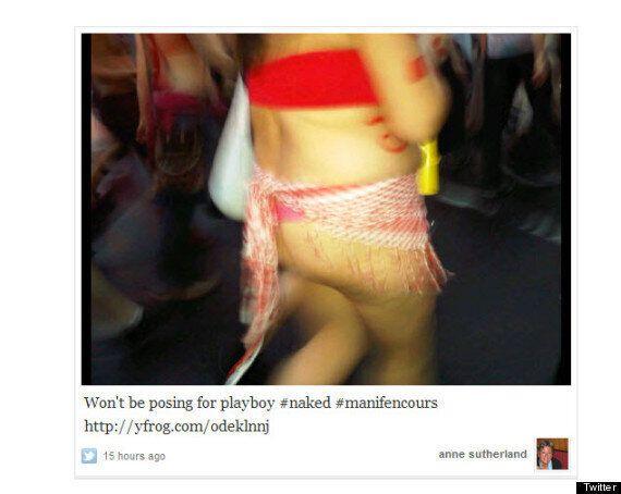 Manif nue: des commentaires désobligeants sur les médias
