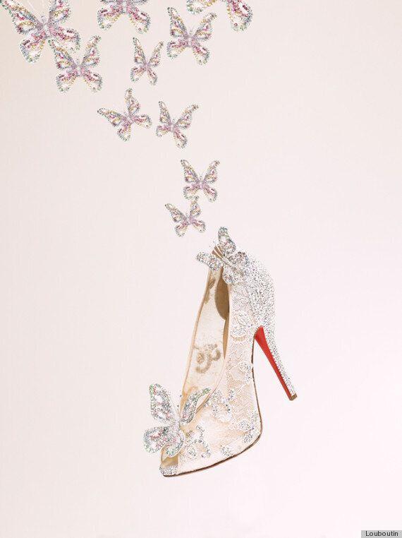 Christian Louboutin présente ses escarpins «Cendrillon» lors de la Fashion Week de