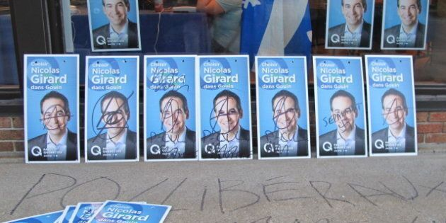 Campagne électorale : plus de 200 pancartes du Parti québécois vandalisées dans