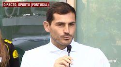 Iker Casillas, al borde de las lágrimas al salir del hospital: