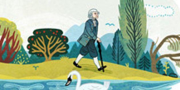Google rend hommage à Jean-Jacques Rousseau avec un doodle pour le tricentenaire de sa