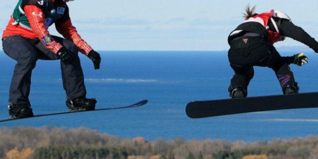 Maëlle Ricker s'impose à la Coupe du monde de snowboardcross disputée à