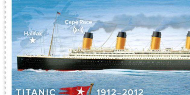 Cent ans après le naufrage, le Titanic revient sur cinq timbres
