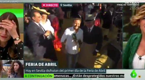 La cara de Eva González tras lo que un hombre le dijo en pleno directo de 'Liarla