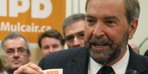 NPD: Mulcair veut un fonds de 3,38 M$ pour défaire les