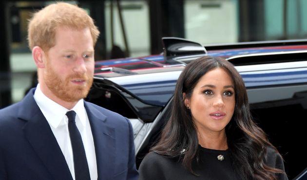 El príncipe Harry y Meghan Markle, duques de Sussex, padres de un