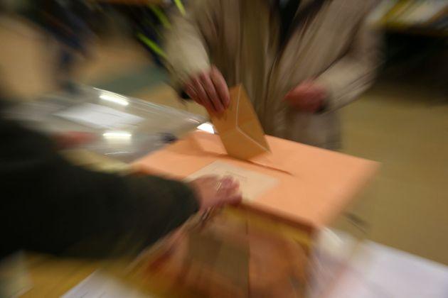 Un voto al Senado en las últimas elecciones, con el característico sobre