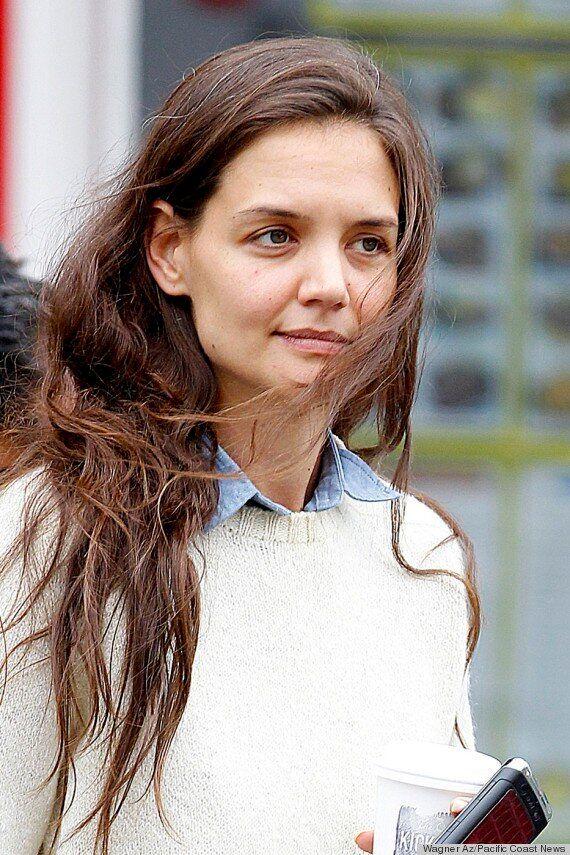 Katie Holmes, avec des cheveux gris et sans maquillage... Les stars au naturel