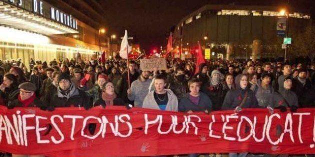 Manifestation étudiante: ça se poursuit dans le