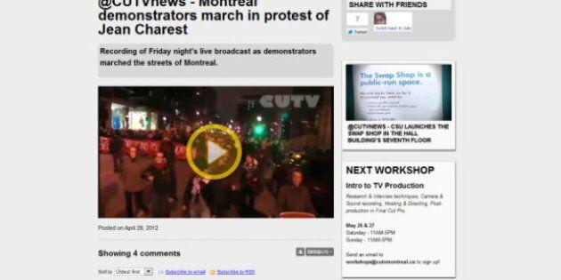 CUTV: le «printemps érable» révèle le talent des médias