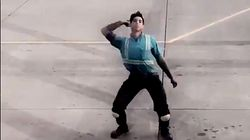 Baggage Handler's Tarmac Dance Moves Are Taking