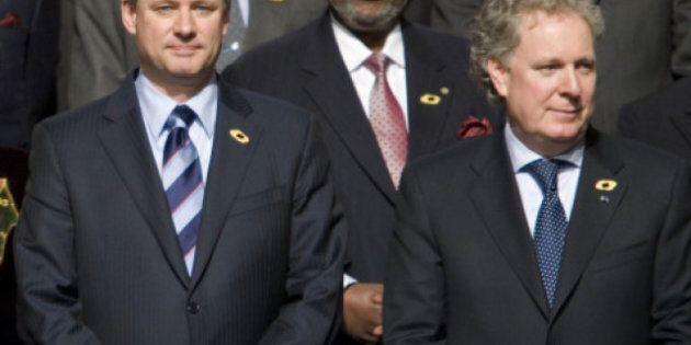 Harper et Charest sont arrivés à Davos pour le Forum économique