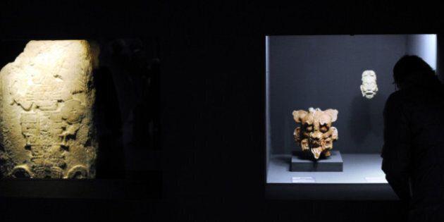 Les étonnants masques de jade mayas exposés à la Pinacothèque de