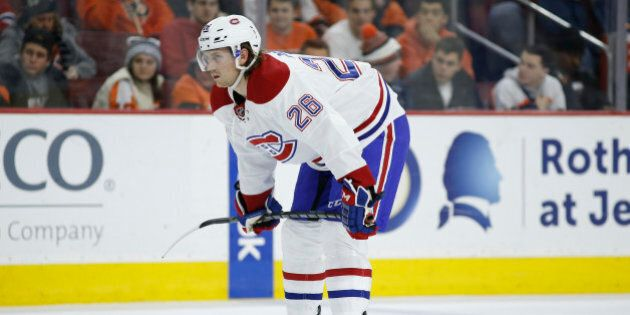 Montreal Canadiens' Jeff Petry in action during an NHL hockey game against the Philadelphia Flyers, Tuesday,...