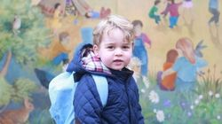 Premier jour de garderie pour le prince