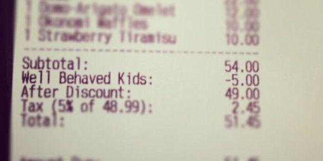 Un restaurant de Calgary récompense les parents d'enfants disciplinés