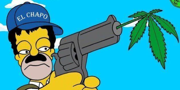 Homer Simpson transformé en narcotrafiquant pour lutter contre la guerre de la drogue