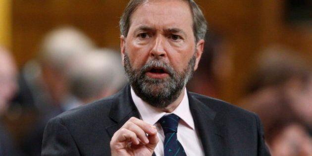 Politique canadienne: la vision énergétique du chef néo-démocrate Thomas Mulcair est critiquée par le...