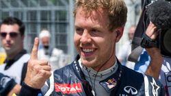 Sebastian Vettel en pole position