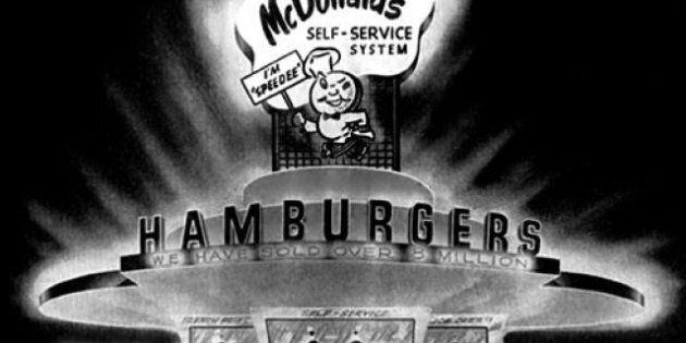 Le premier restaurant McDonald's à San Bernardino en 1948
